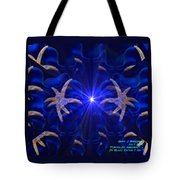 Pointelist Abstract In Blue Catus 1 No. 1 H A Tote Bag
