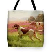 Pointers In A Landscape Tote Bag