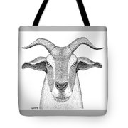 Farm Goat In Pointillism Tote Bag