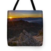 Pointing At The Sun Tote Bag