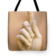 Pointing Finger, Statue Of Constantine, Rome, Italy Tote Bag
