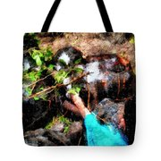 Pointing To Turtles Tote Bag