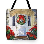 Pointsettia House Tote Bag
