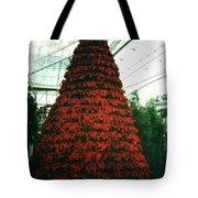 Pointsettia Tree Tote Bag