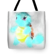 Pokemon Squirtle Abstract Portrait - By Diana Van Tote Bag