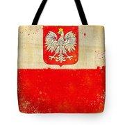 Poland Flag Tote Bag by Setsiri Silapasuwanchai