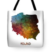 Poland Map Polska Map Tote Bag