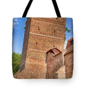 Poland, Torun, Crooked Tower. Tote Bag