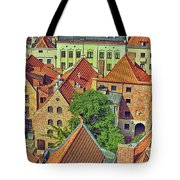 Poland, Torun, Houses. Tote Bag