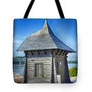 Poland, Torun, Shed On The River. Tote Bag