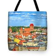 Poland, Torun, Urban Landscape. Tote Bag