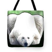 Polar Bear - Green Tote Bag