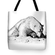 Polar Bear Protects Her Young Tote Bag