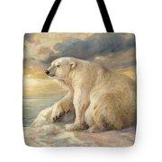Polar Bear Rests On The Ice - Arctic Alaska Tote Bag