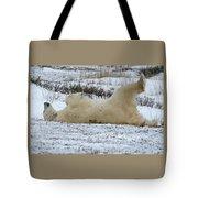 Polar Bear Yoga Tote Bag
