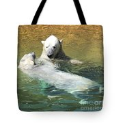 Polar Bears Tote Bag by Laurie Lundquist