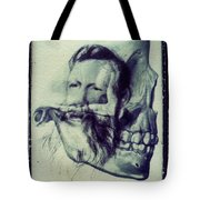 Polaroid Transfer Skull Anatomy Teeth Skeleton Beard Tote Bag