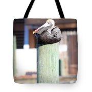 Pole Top Pelican Tote Bag