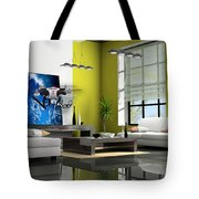 Police Drone Art Tote Bag