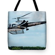 Police Helicopter Taking Off Tote Bag