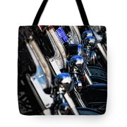 Police Motorcycles Tote Bag