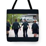 Police Pants Tote Bag