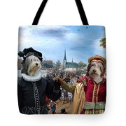 Polish Lowland Sheepdog Art Canvas Print - Prince And Princess Of Orange Tote Bag