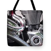 Polished Motorcycle Chrome Tote Bag