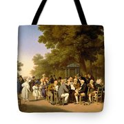 Politicians In The Tuileries Gardens Tote Bag by Louis Leopold Boilly