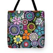 Polka Dot Bouquet Tote Bag