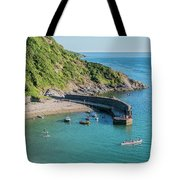 Polkerris Beach And Harbour Tote Bag