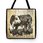 Polled Hereford Bull 11 Tote Bag