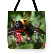 Pollen Covered Bee Tote Bag