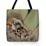 Pollinating Bee Tote Bag