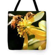 Pollinating Bees Tote Bag