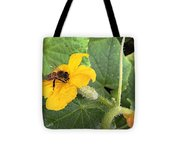 Pollinating Cucumbers 2  Tote Bag by Daniele Smith