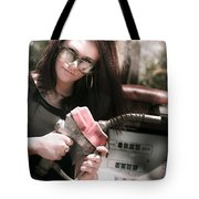 Pollution Through Consumption Tote Bag