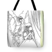 Polly And Tammy On The Balcony Tote Bag