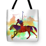 Polo Player Tote Bag