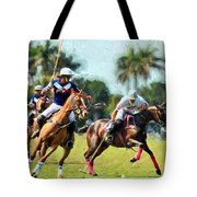 Polo Players And Ponies Tote Bag