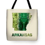 Polygon Mosaic Parchment Map Arkansas Tote Bag