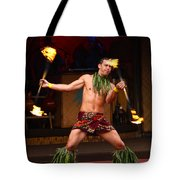Polynesian Fire Dancing Tote Bag