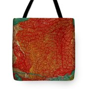 Pomegranate Blossom Abstract Tote Bag