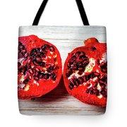 Pomegranate Cut In Half Tote Bag