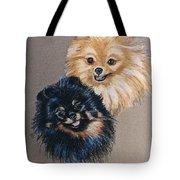 Pomeranian Pair Tote Bag