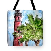 Ponce De Leon Inlet Florida Lighthouse Art Tote Bag