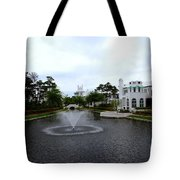 Pond At Alys Beach Tote Bag by Megan Cohen