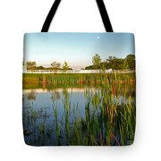 Pond At Sunset Tote Bag