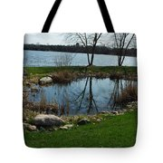 Pond By The Lake Tote Bag