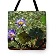 Pond Florals Tote Bag